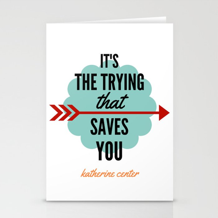 It's the TRYING Stationery Cards