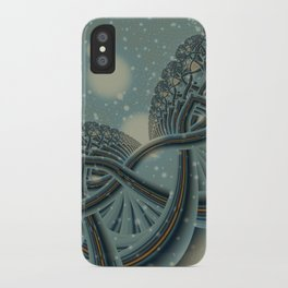 Celtic Winter Forest iPhone Case