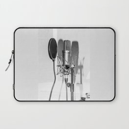 Microphone black and white Laptop Sleeve