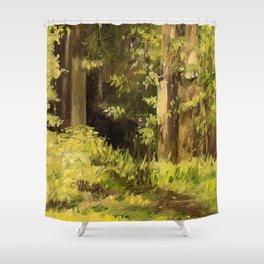 Woodland Landscape Nature Art Shower Curtain
