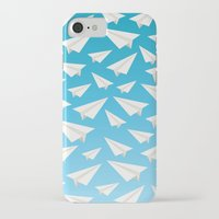 planes iPhone & iPod Cases featuring Paper Planes by Elle Moz