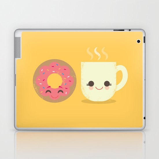 Coffee and Donut Buds Laptop & iPad Skin