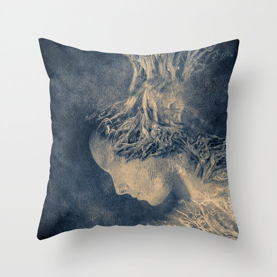 Dark portrait II  (colour option) Throw Pillow