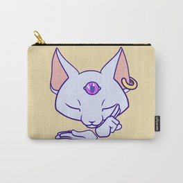 Mysticat White Carry-All Pouch