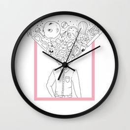 Mind-Blowing Doodles Wall Clock