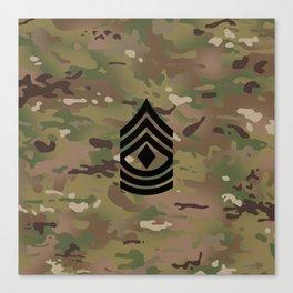 1st Sergeant (Camo) Canvas Print