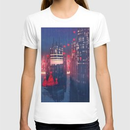 Fantastic Super Modern Freight Harbour City By Cartoon Scenery Ultra High Resolution T-shirt