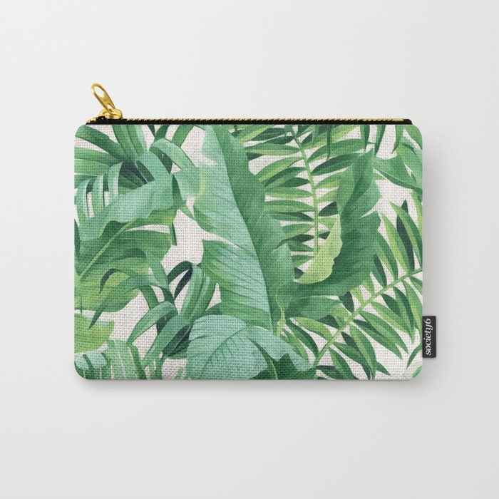 Green tropical leaves III Carry-All Pouch
