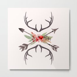 Boho Arrows Metal Print