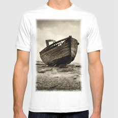 Abandoned MEDIUM White Mens Fitted Tee