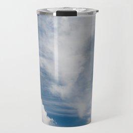 White various clouds formation Travel Mug