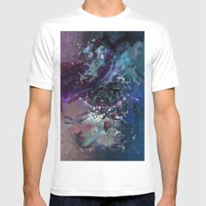 Black Hole Apprehension White MEDIUM Mens Fitted Tee