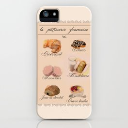 Lovely French Patisserie  iPhone Case