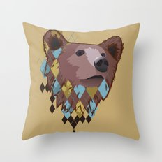 Argyle Bear Throw Pillow