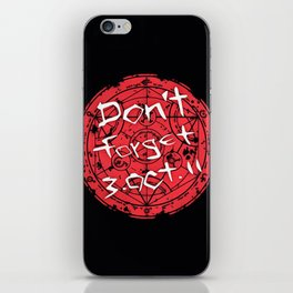 don't forget boct iPhone Skin