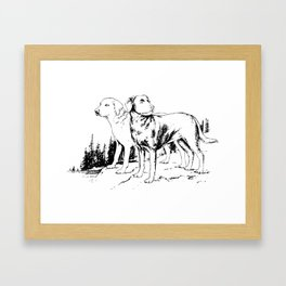 Hunting Labradors Framed Art Print