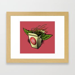 The Flying Noodle Takeaway Company Framed Art Print