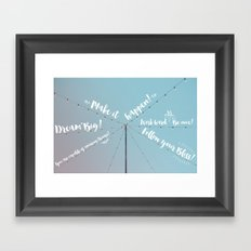 Feel Inspired Framed Art Print