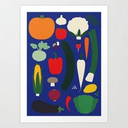 Veggie Poster Art Print