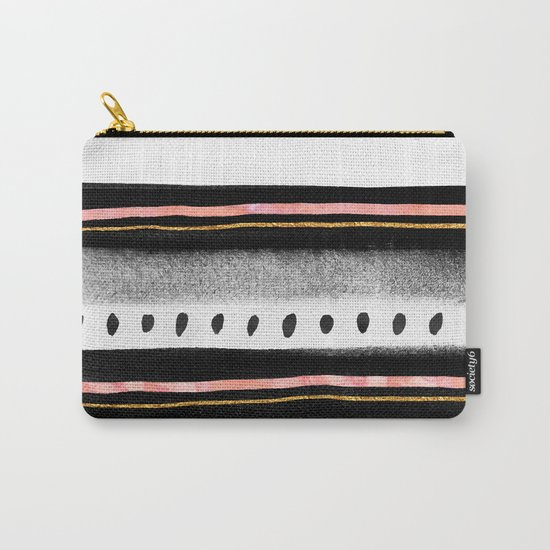 Pattern Play / Pink, Gold & Black Carry-All Pouch