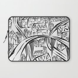 Town Circled By Roads Laptop Sleeve