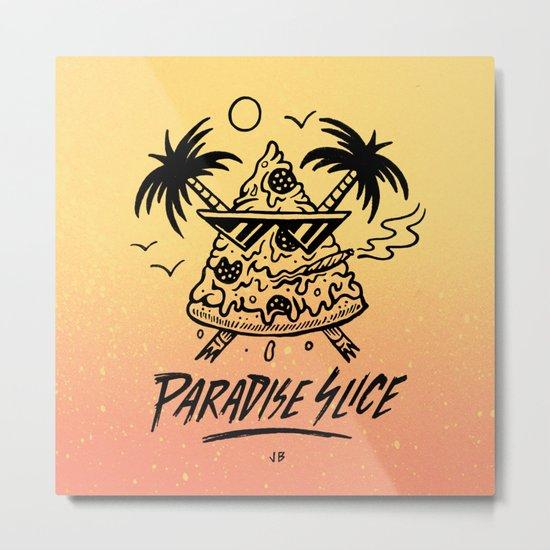 Paradise Slice Metal Print