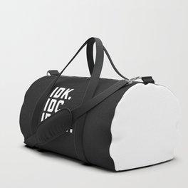 IDK, IDC, IDGAF Funny Quote Duffle Bag