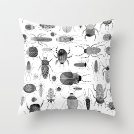 Ink Beetles Throw Pillow