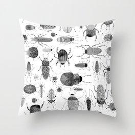Ink Beetles Throw Pillow