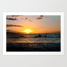 Luau at sunset Art Print