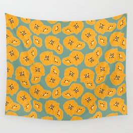 Retro bloom 003 Wall Tapestry