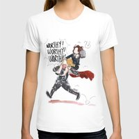 peggy carter T-shirts featuring PEGGY CARTER IS WORTHY. by Maryne.