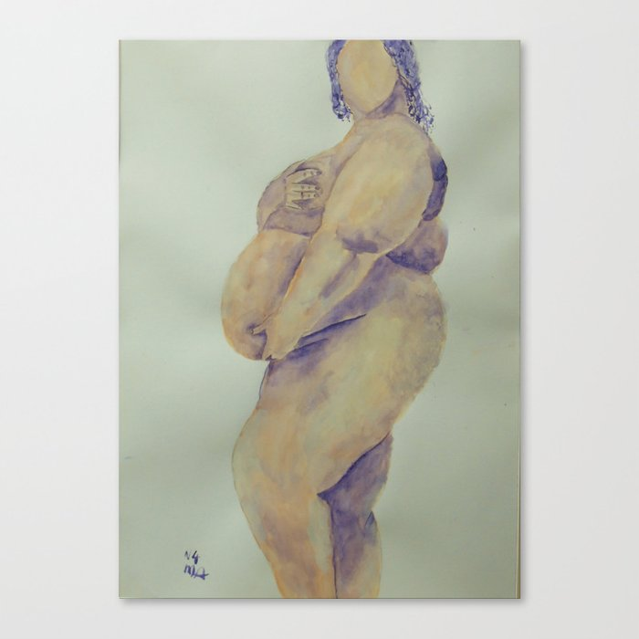 Pregnant Naked Beauty Canvas Print
