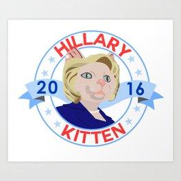 Hillary Kitten 2016 Art Print