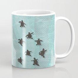 Loggerhead sea turtle hatchlings Coffee Mug