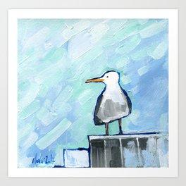 Skipper Seagull Art Print