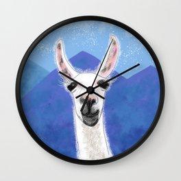 Llama Yama Smiling Wall Clock