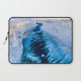 The crack of Baikal ice Laptop Sleeve