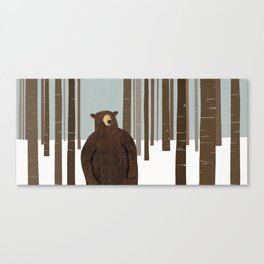 BEAR IN WOODS Canvas Print