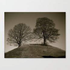 Twin Trees Canvas Print