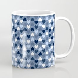 Small Denim Hearts Coffee Mug