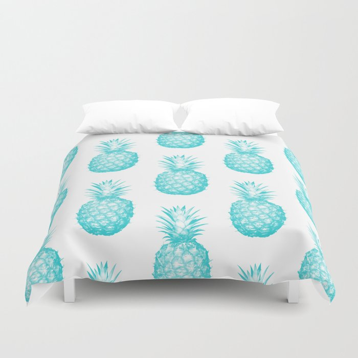 Teal Pineapple Duvet Cover By Cumulusfactory