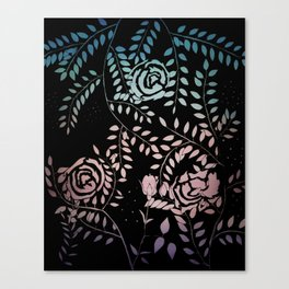 Gradient Roses Canvas Print