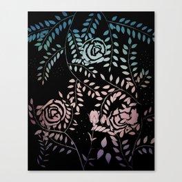 Gradient Roses Canvas Print