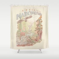 parks Shower Curtains featuring Adventure National Parks by Taylor Rose