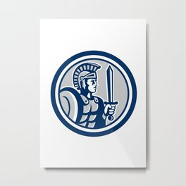 Centurion Roman Soldier Sword Retro Metal Print