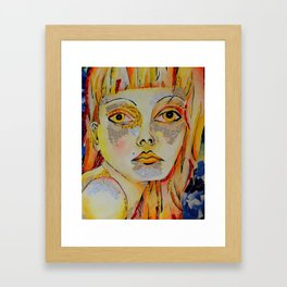 Thought in Primaries Framed Art Print