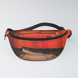 Walk through the red path Fanny Pack