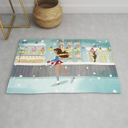 Ice Skating Girl Rug