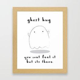ghost hug Framed Art Print